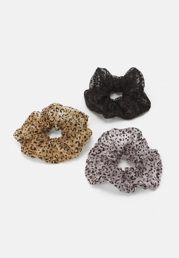 PCMAISY OVERSIZED SCRUNCHIE 3 PACK - Hair styling accessory - black/rose/beige
