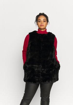 STEPPED GILET - Waistcoat - black