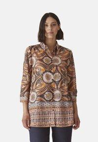 Elena Mirò - MIT ETHNO-DRUCK - Button-down blouse - arancione - 0