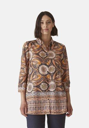 MIT ETHNO-DRUCK - Button-down blouse - arancione