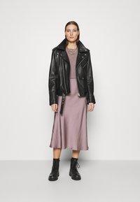 AllSaints - BENNO TEE DRESS SET - Long sleeved top - taupe - 1