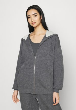 NA-KD X ZALANDO EXCLUSIVE ZIP HOODIE - Felpa aperta - dark grey