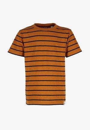 STRIPED - T-shirts print - rust-black