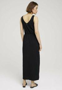 TOM TAILOR DENIM - Maxi dress - deep black - 2