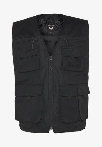 MADDOX - Waistcoat - black