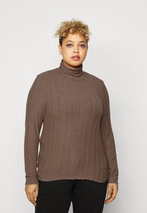PCSAOREM ROLL NECK - Long sleeved top - grey