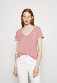 Abercrombie & Fitch - 5 PACK - T-shirts - white/tan/rose/blue/black - 5