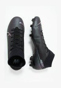 MERCURIAL 7 ACADEMY FG/MG - Moulded stud football boots - black