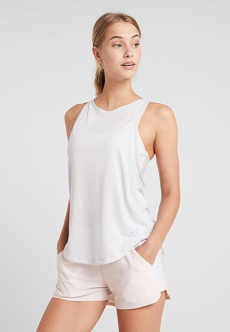 Under Armour - WHISPERLIGHT TANK - Treningsskjorter - halo gray/metallic silver