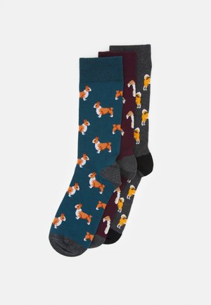 3 PACK - Socks - dark green/bordeaux/mottled grey