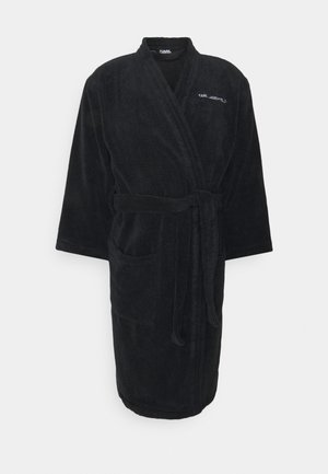 LOGO BATHROBE UNISEX - Dressing gown - black