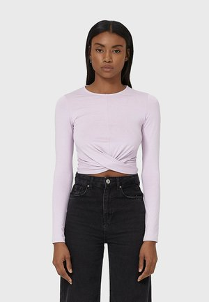 IN WICKELOPTIK - Long sleeved top - purple