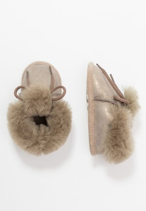 BAMBI LUX - Krabbelschuh - taupe/gold