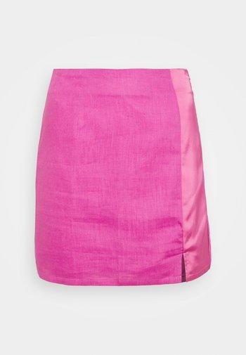 LINEN MINI  - Minihame - pink