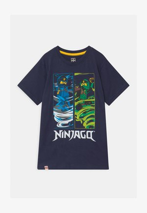 Print T-shirt - dark navy