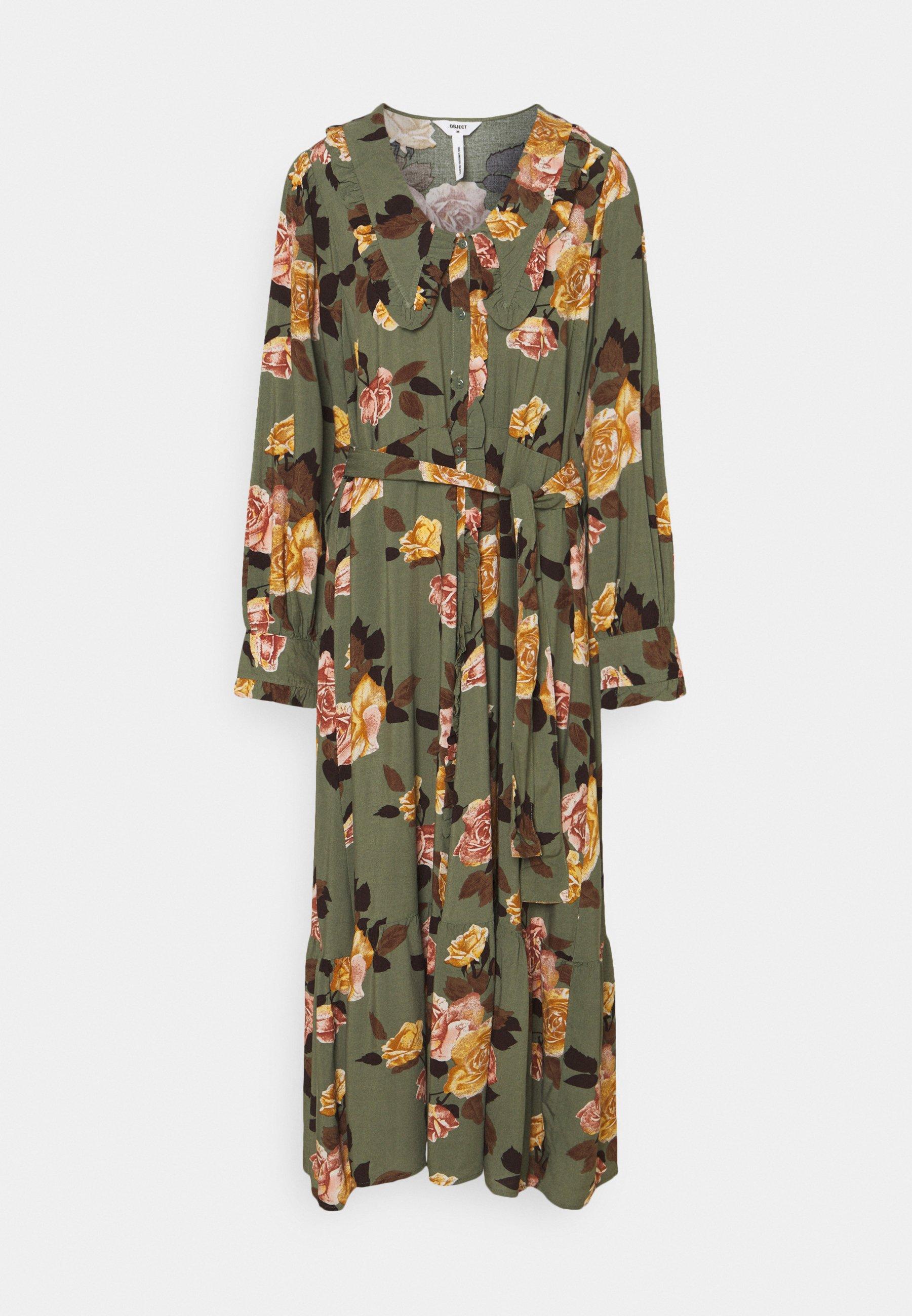 Women OBJROSE DRESS - Maxi dress