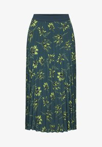 mine to five TOM TAILOR - Pleated skirt - deep green leaves design - 8