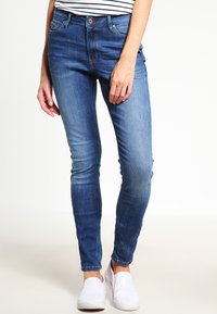edc by Esprit - HIGH SKIN PANTS DENIM - Slim fit jeans - blue denim - 0