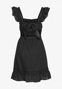 Scotch & Soda - SUMMER DRESS WITH PINTUCKS AND RUFFLES - Day dress - black - 1
