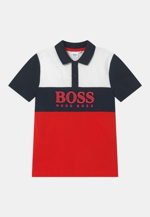 SHORT SLEEVE - Polo shirt - red/dark blue