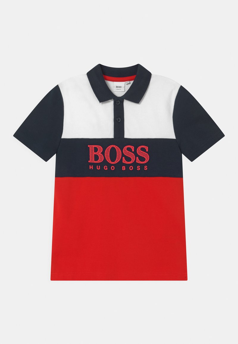 BOSS Kidswear - SHORT SLEEVE - Polo shirt - red/dark blue
