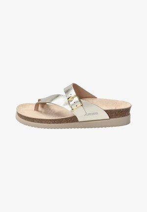 T-bar sandals - metall