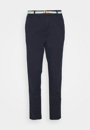 SLIM - Trousers - navy