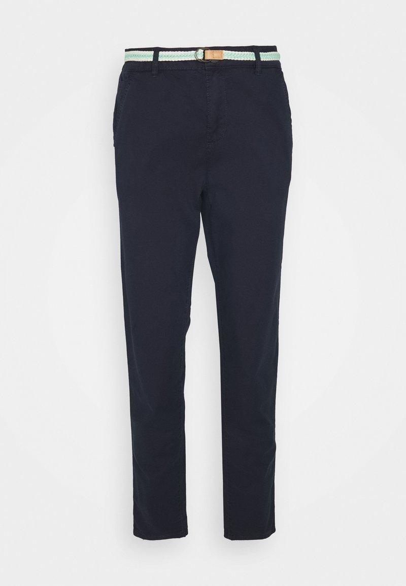Esprit - SLIM - Trousers - navy