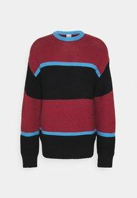 Paul Smith - GENTS CREW NECK - Jumper - dark red/black/blue - 6