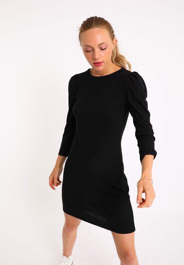 MIT PUFFÄRMELN - Etui-jurk - schwarz