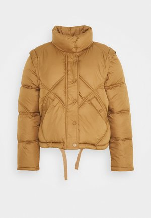ONLHANNAH QUILTED JACKET - Vinterjakker - toasted coconut