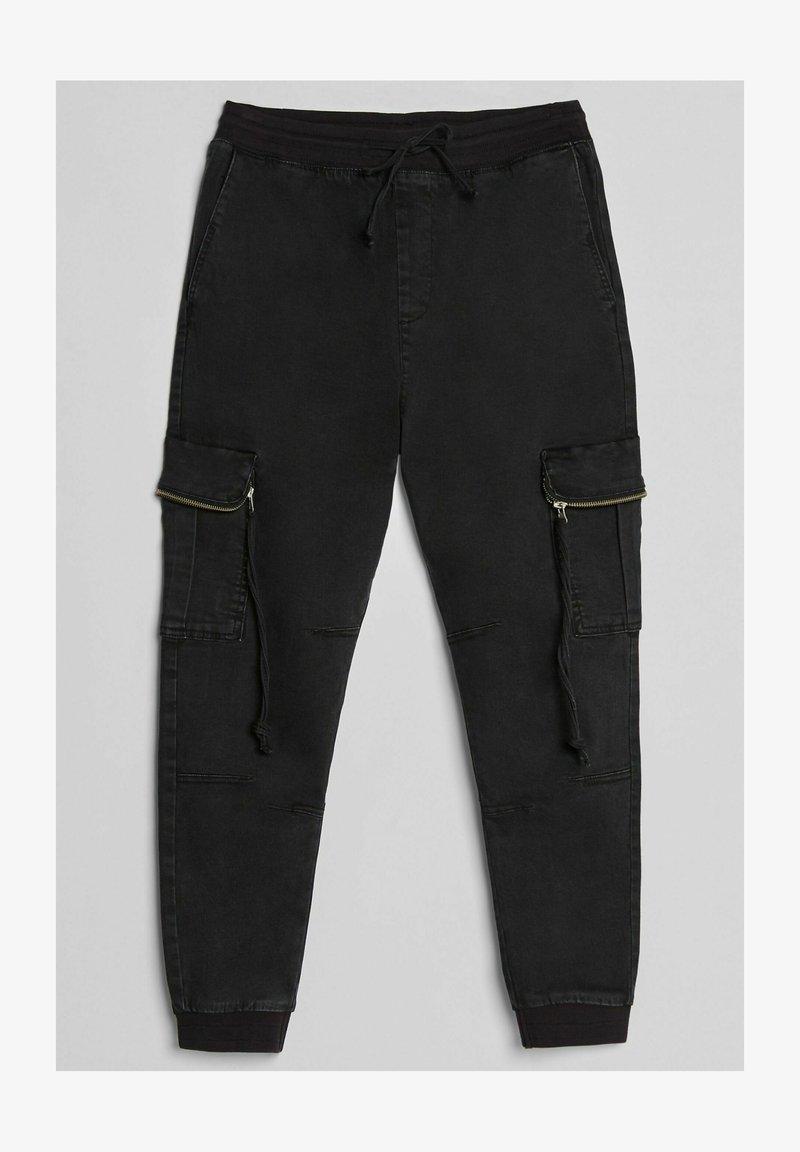 Bershka Pantalon Cargo Black Noir Zalando Be