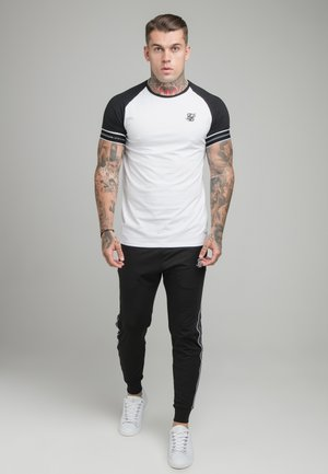 STATUS TAPE TEE - Print T-shirt - black/white