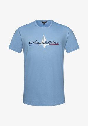 VOILES D'ANTIBES  - Print T-shirt - blue