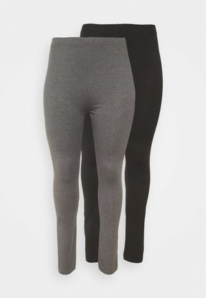 2 PACK - Legging - black/grey