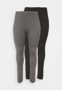 Even&Odd Curvy - 2 PACK - Legíny - black/grey - 4
