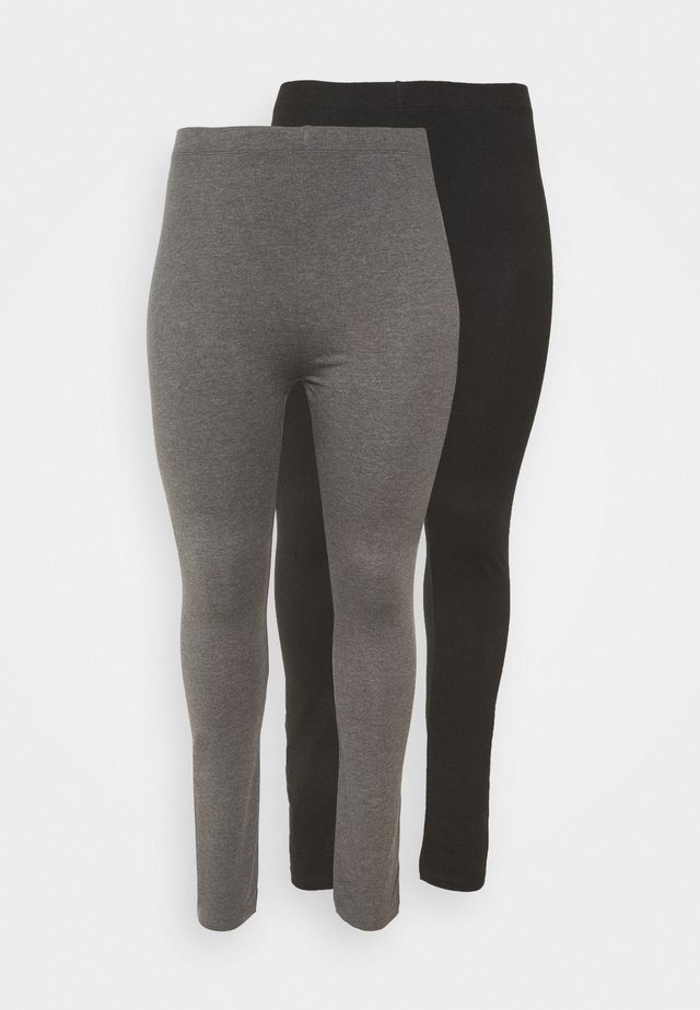 2 PACK - Legging - black/grey