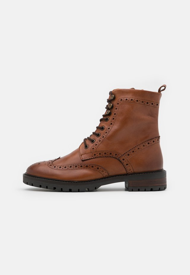 PURELY - Lace-up ankle boots - tan