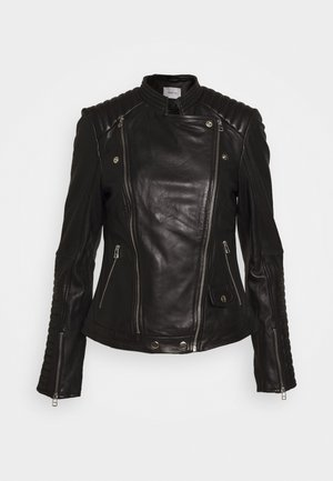 ELECTRA JACKET - Leather jacket - black
