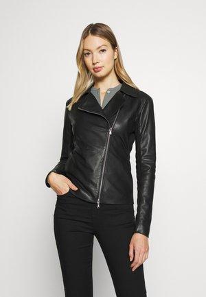 CABAN COAT - Kožená bunda - black