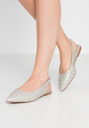 Slingback ballet pumps - gray