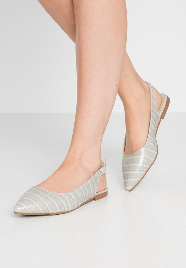 Slingback ballet pumps - gray
