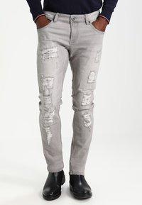 INDICODE JEANS - NARVIK - Slim fit jeans - light grey - 0