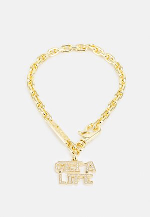 GET A LIFE LARGE PENDANT - Collar - gold-coloured/white