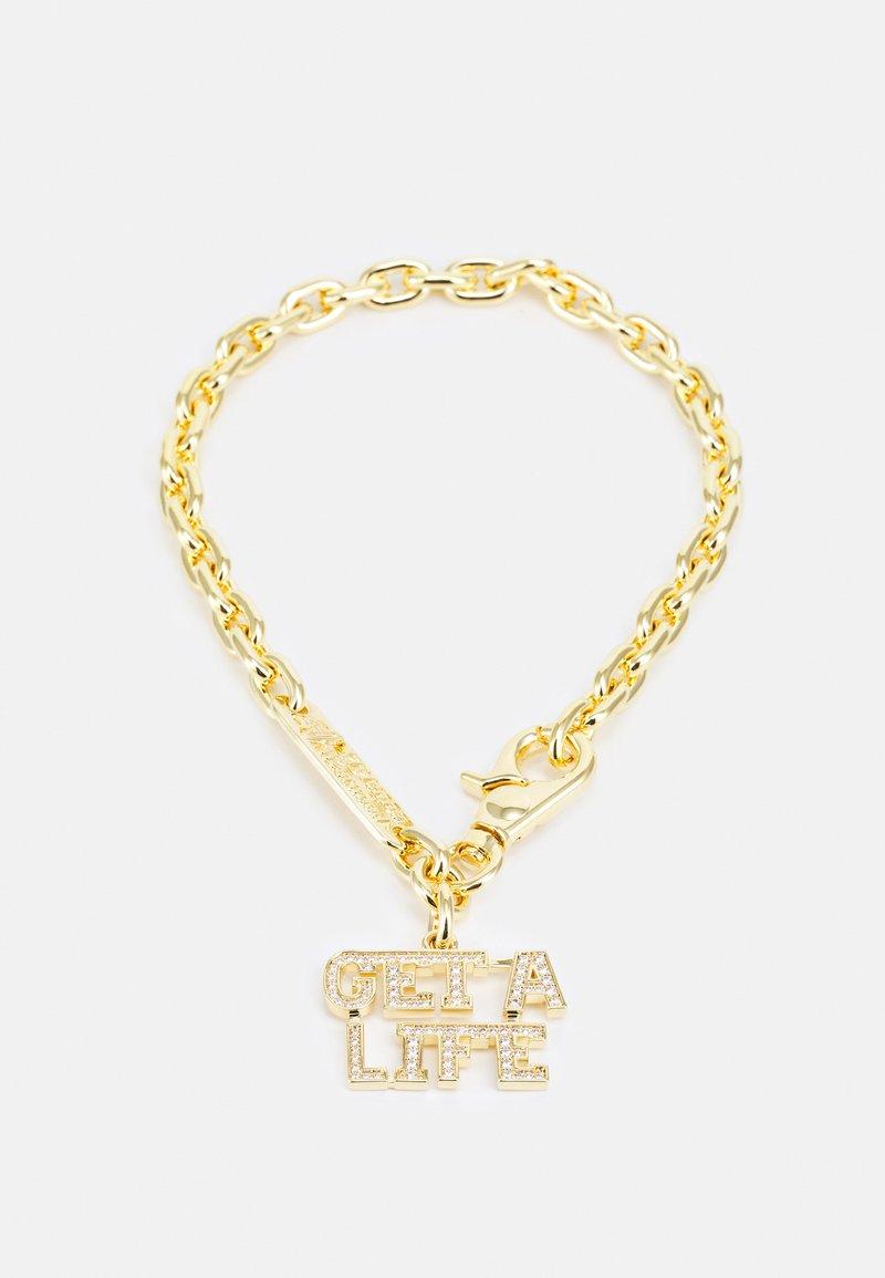 Vivienne Westwood - GET A LIFE LARGE PENDANT - Necklace - gold-coloured/white