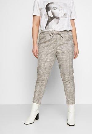 VMEVA MR LOOSE STRING CHECK - Trousers - silver mink/birch/light blue/black
