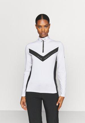 BEJEWELII CORE - Long sleeved top - white/black