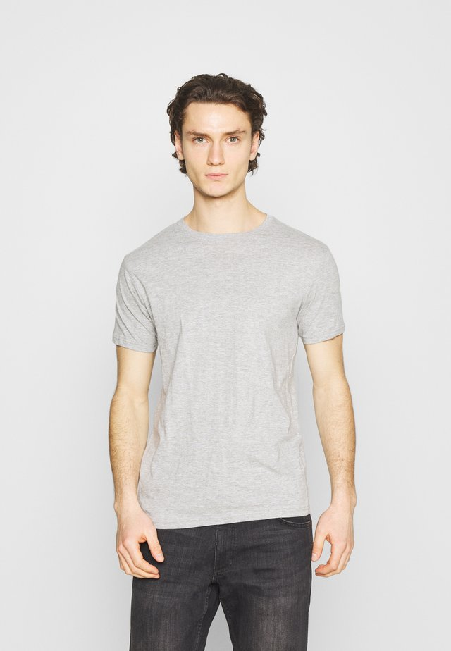 3 PACK - T-shirt basic - black/white/grey
