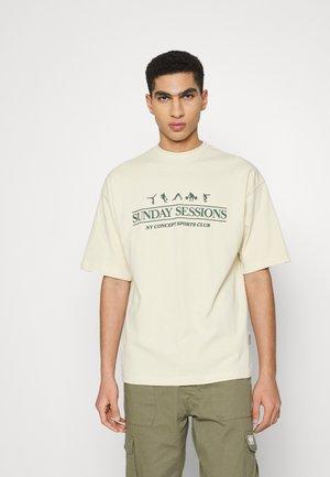 SESSIONS UNISEX - T-shirt print - ecru
