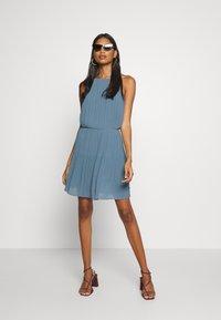Samsøe Samsøe - MYLLOW SHORT DRESS - Koktejlové šaty/ šaty na párty - blue mirage - 1